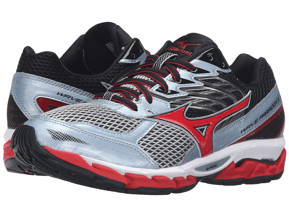 Mizuno - Wave Paradox 3 (Quarry/High Risk Red/Black) Men's Running Shoes