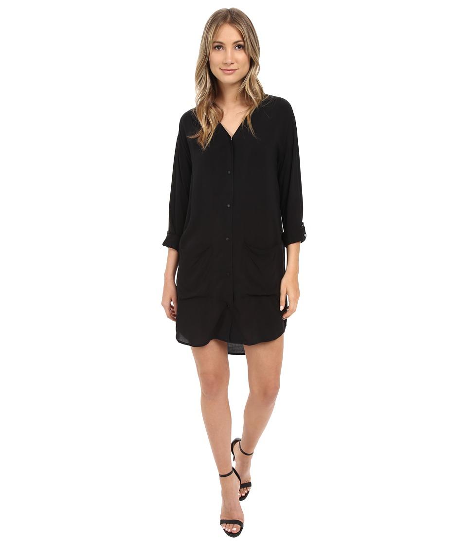 Calvin Klein Jeans - Solid Shirtdress (Black) Women's Dress