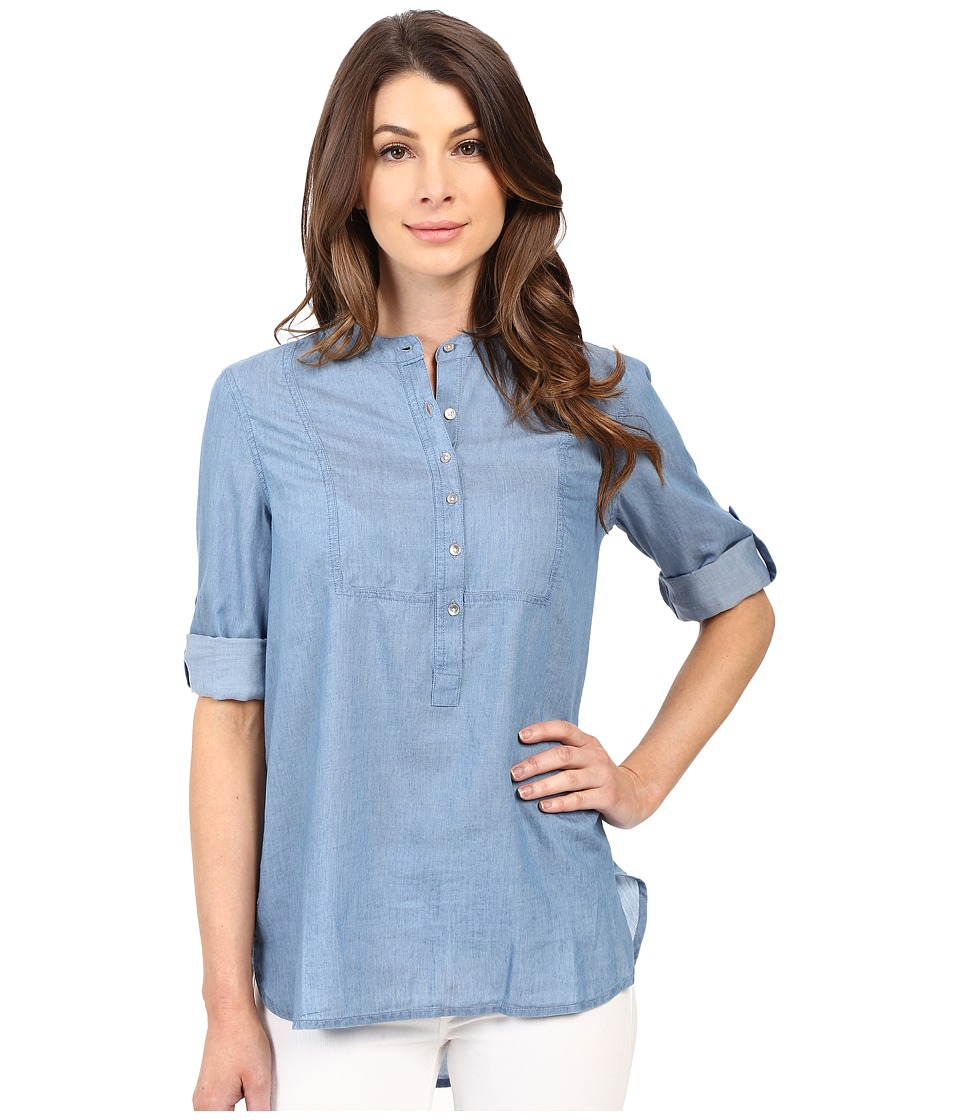 Calvin Klein Jeans - Chambray Henley Tunic (Denim Blue) Women's Dress
