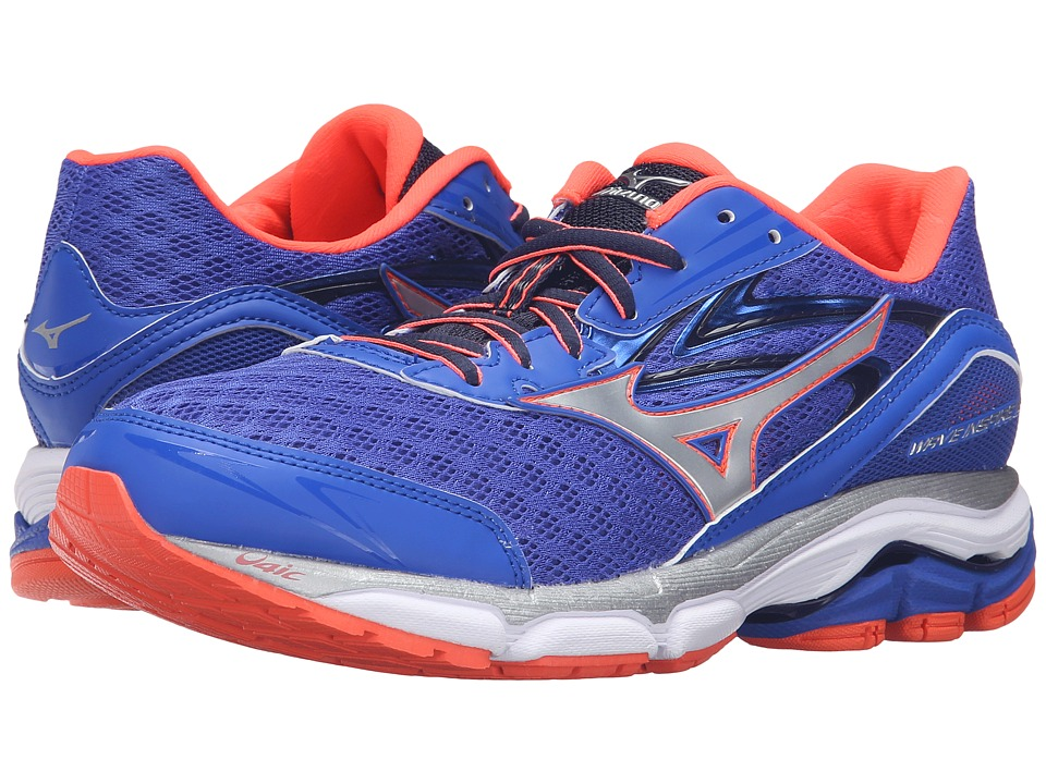 Mizuno - Wave Inspire 12 (Dazzling Blue/Fiery Coral/White) Women's Running Shoes