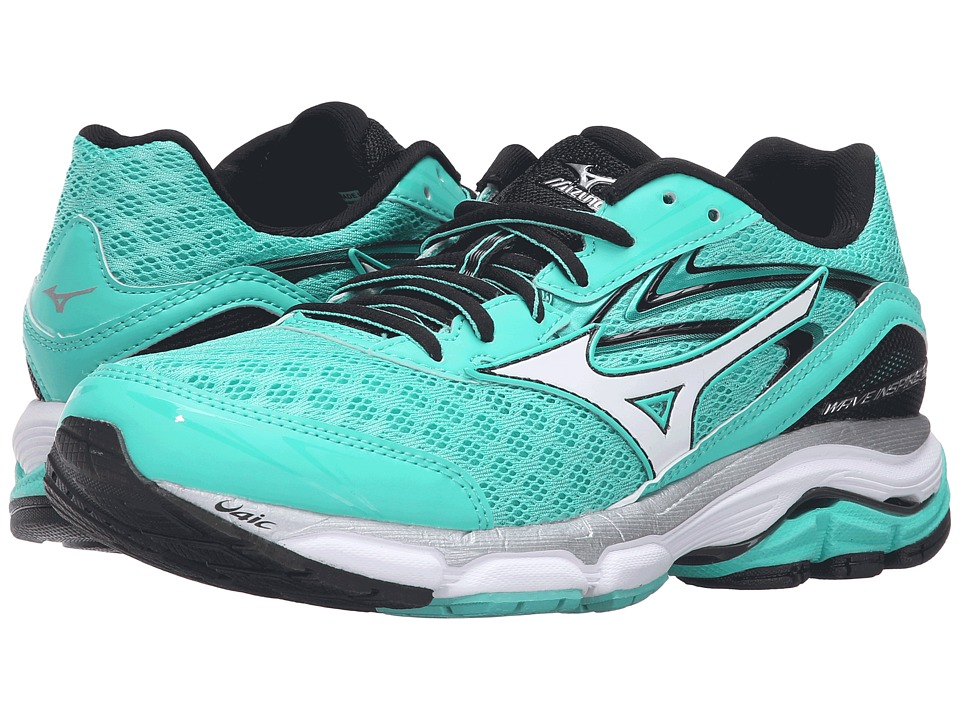 Mizuno - Wave Inspire 12 (Electric Green/White/Black) Women's Running Shoes