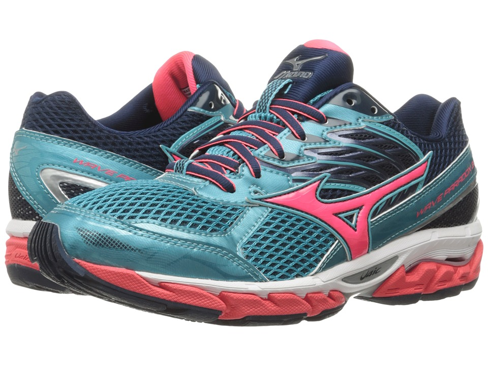Mizuno - Wave Paradox 3 (Capri/Diva Pink/Dress Blue) Women's Running Shoes