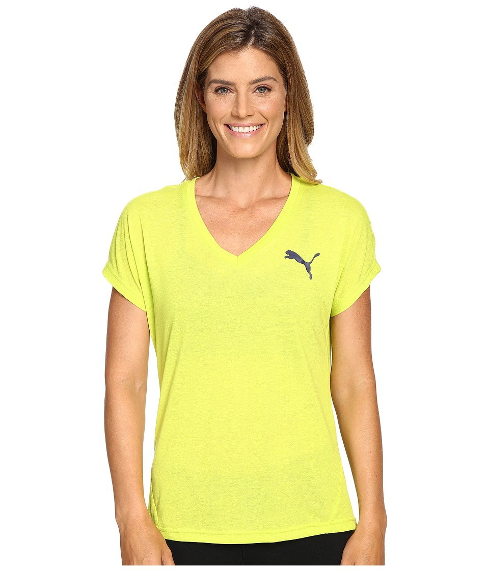 PUMA - Elevated Sporty Tee (Limepunch) Women's T Shirt