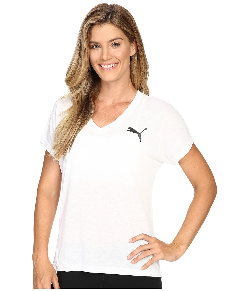 PUMA - Elevated Sporty Tee (PUMA White) Women's T Shirt