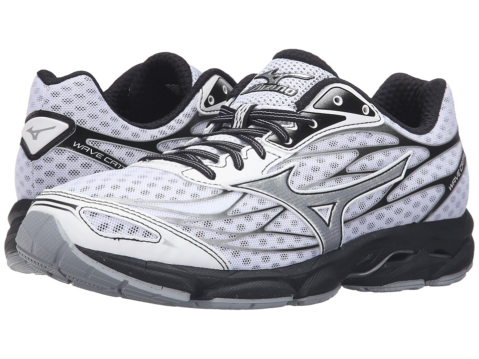 Mizuno - Wave Catalyst (White/Black/Silver) Men's Running Shoes