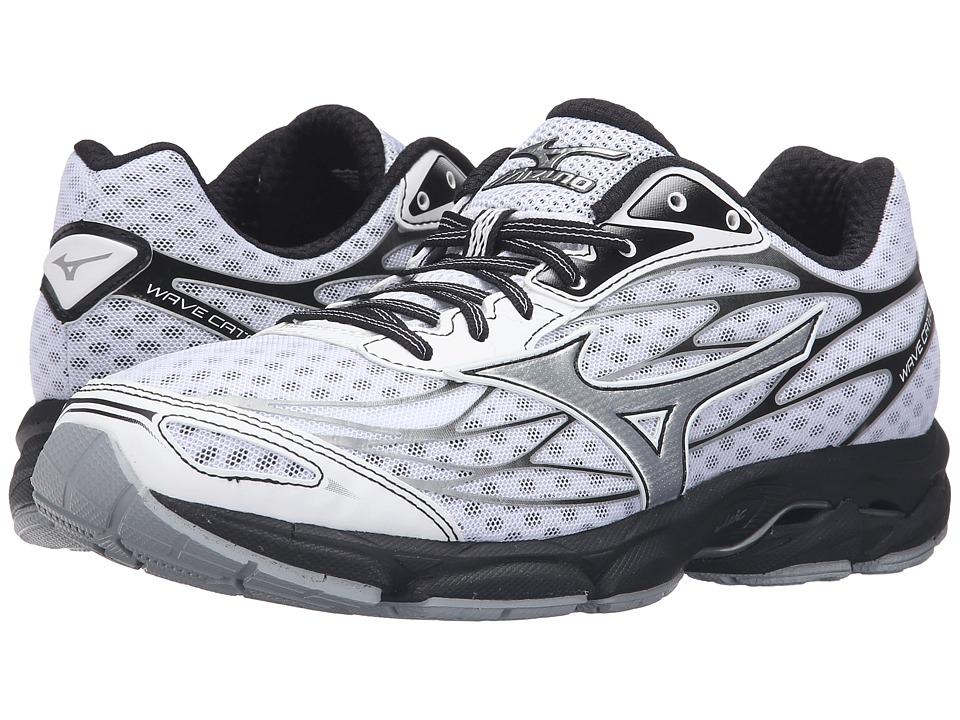 Mizuno - Wave Catalyst (White/Black/Silver) Men's Running Shoes
