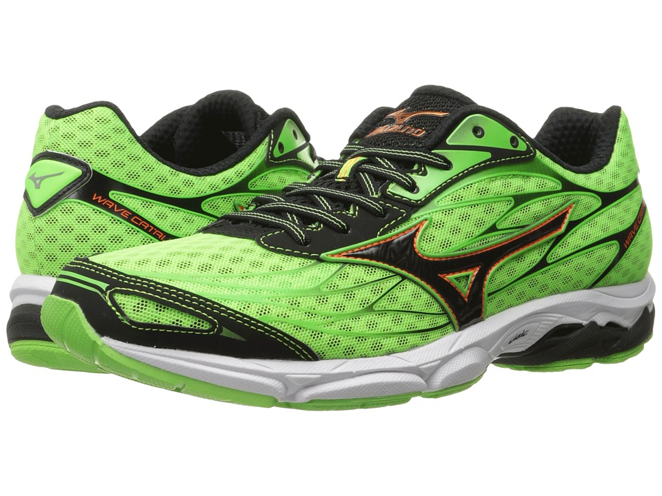 Mizuno - Wave Catalyst (Green Gecko/Clownfish/Black) Men's Running Shoes