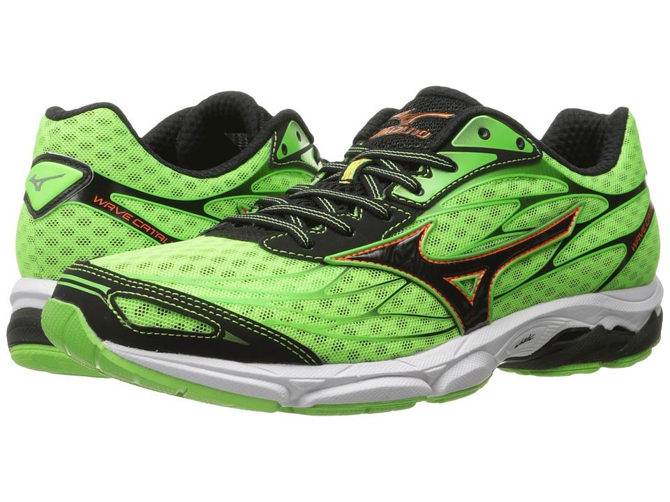 Mizuno - Wave Catalyst (Green Gecko/Clownfish/Black) Men's Running Shoes