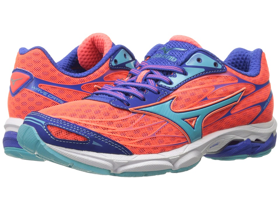 Mizuno - Wave Catalyst (Fiery Coral/Capri/Dazzling Blue) Women's Running Shoes