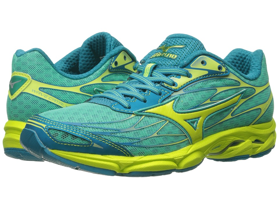 Mizuno - Wave Catalyst (Electric Green/Safety Yellow/Silver) Women's Running Shoes