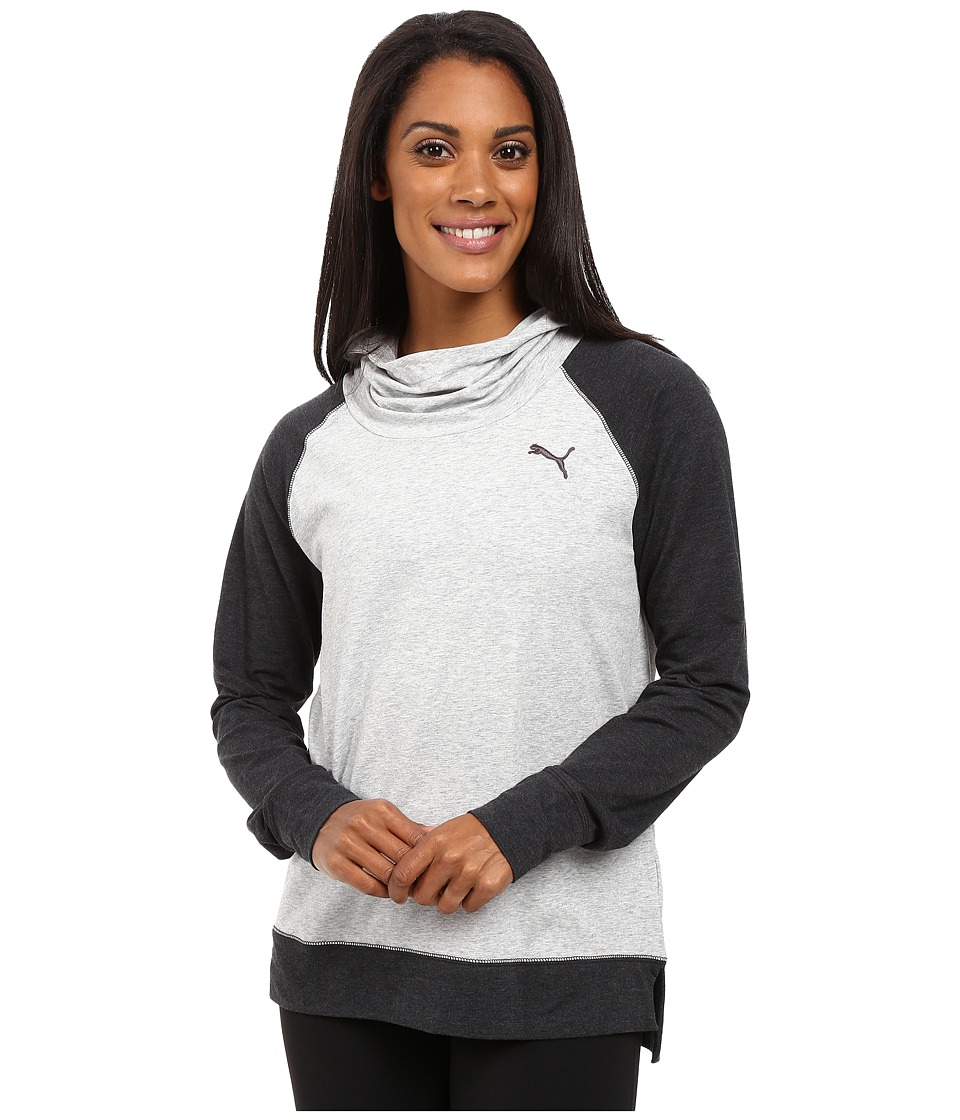 PUMA High Life Hoodie (Light Gray Heather/Dark Gray Heather) Women