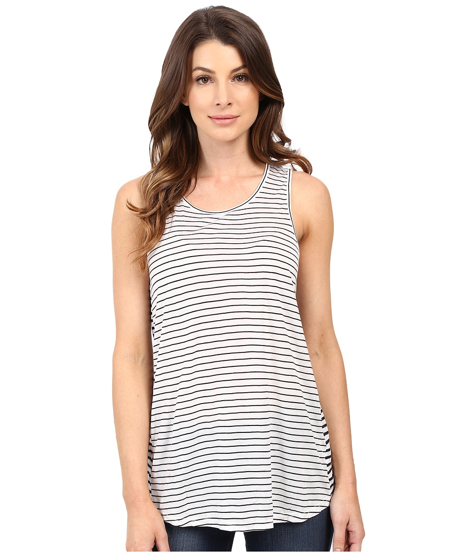 Calvin Klein Jeans - Striped Tank Top (Classic White) Women's Sleeveless