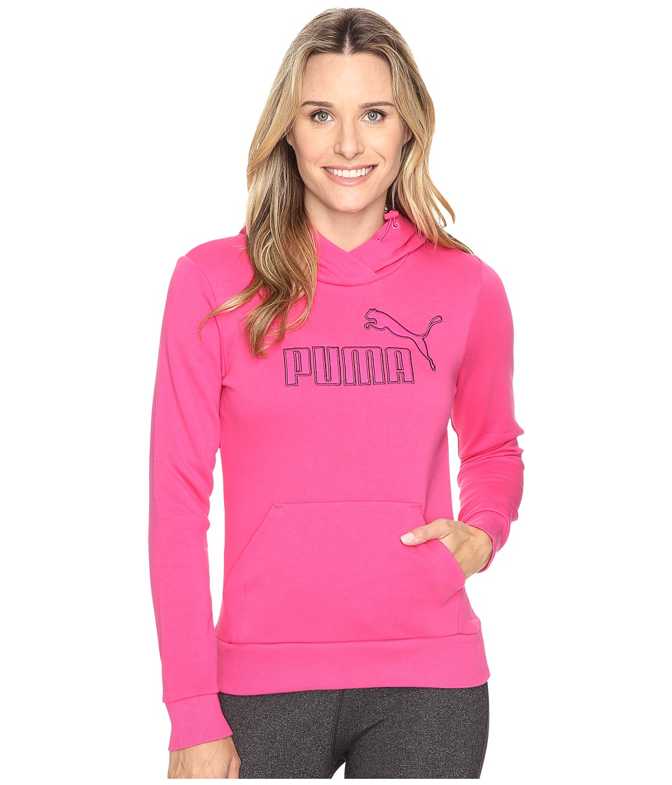 PUMA Elevated Logo Hoodie (Fuchsia Purple) Women