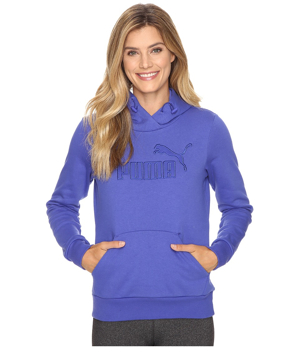 PUMA - Elevated Logo Hoodie (Royal Blue) Women's Sweatshirt