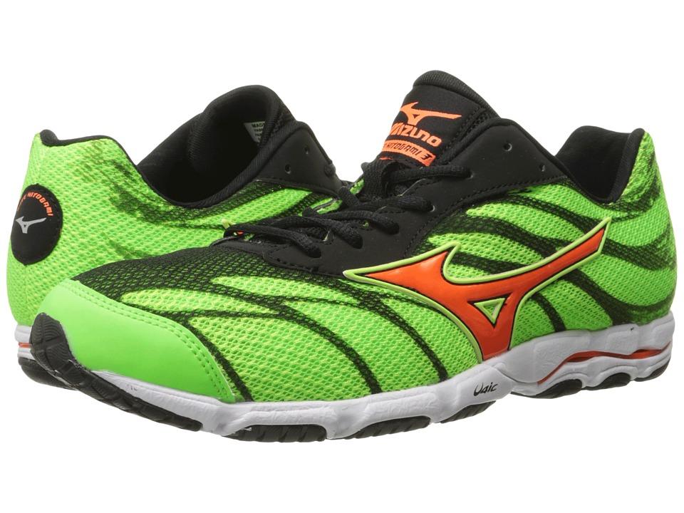 Mizuno - Wave Hitogami 3 (Green Gecko/Clownfish/Black) Men's Running Shoes