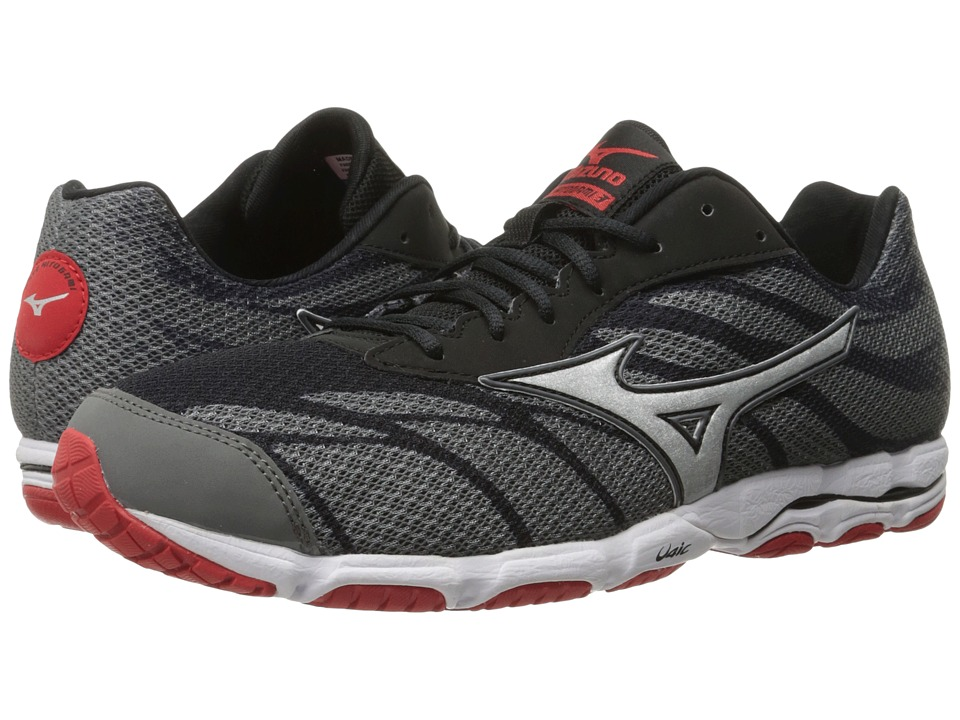 Mizuno - Wave Hitogami 3 (Quarry/High Risk Red/Black) Men's Running Shoes