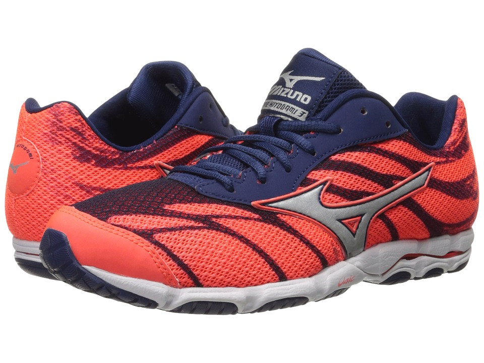 Mizuno - Wave Hitogami 3 (Fiery Coral/Blue Depths/White) Women's Running Shoes