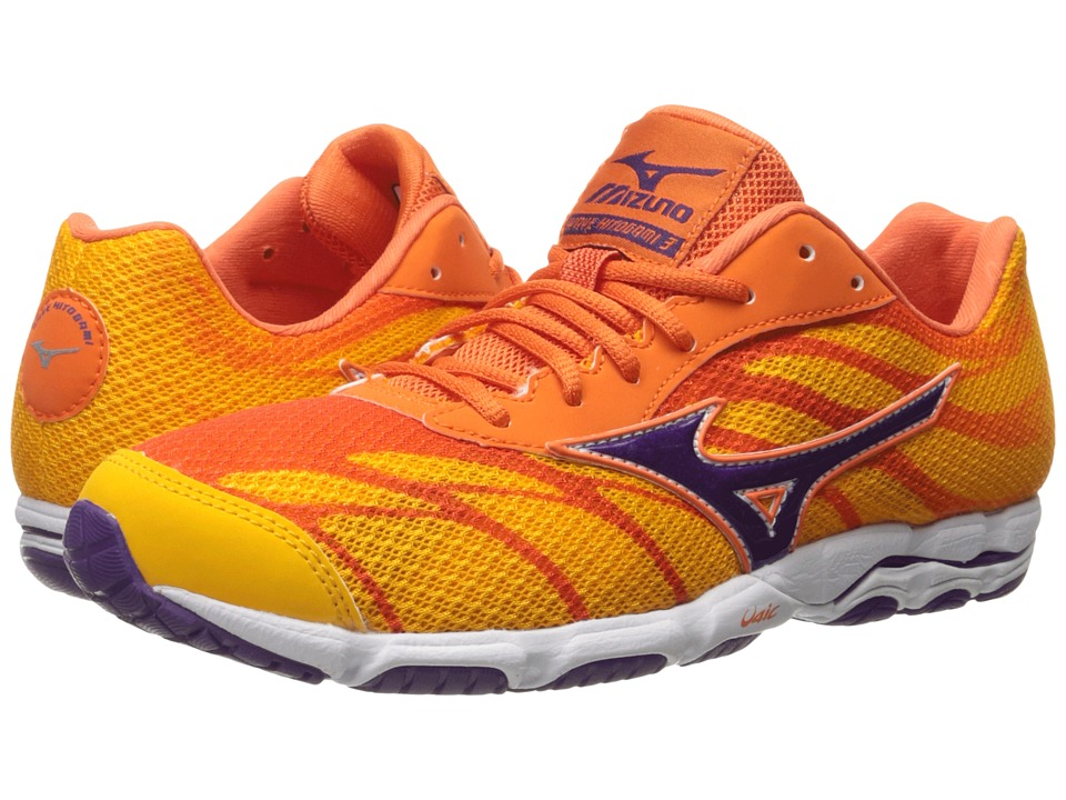 Mizuno - Wave Hitogami 3 (Citrus/Pansy/Firecracker) Women's Running Shoes