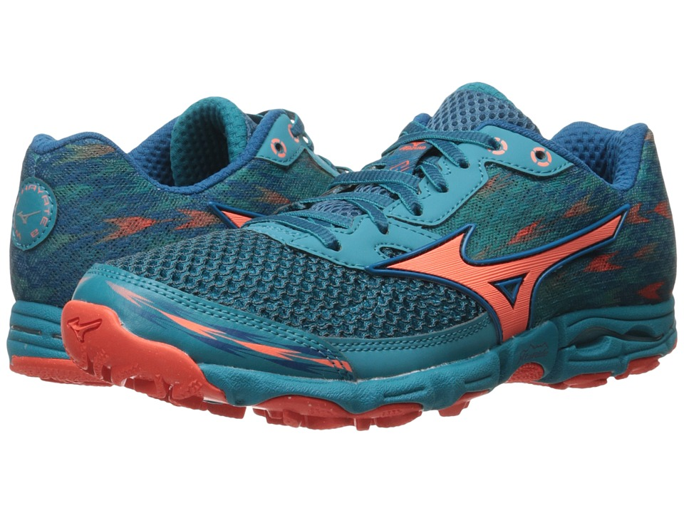 Mizuno - Wave Hayate 2 (Sapphire Blue/Fiery Coral/Capri) Women's Running Shoes