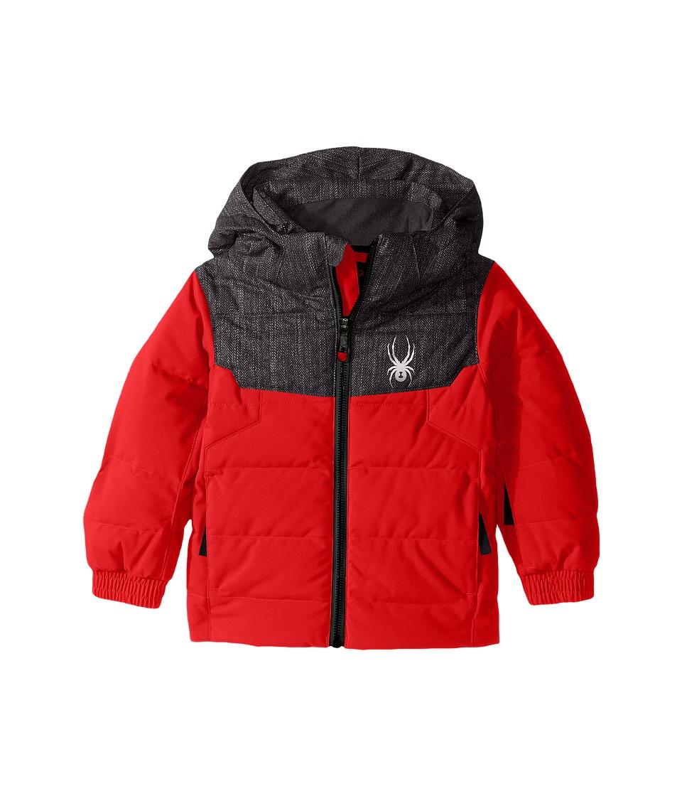 Spyder Kids - Mini Clutch Down Jacket (Toddler/Little Kids) (Rage/Herringbone/Black) Boy's Coat