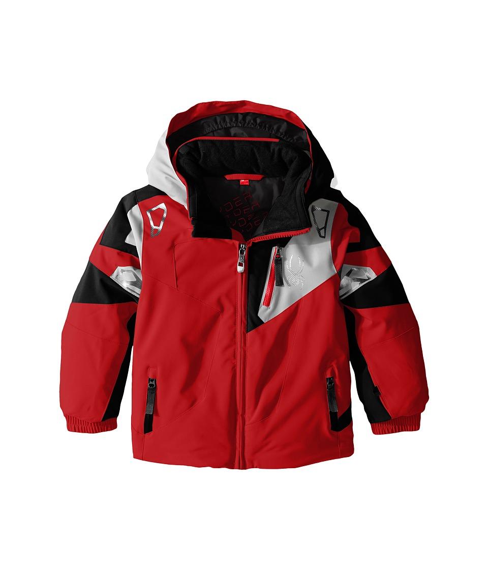 Spyder Kids - Mini Leader Jacket (Toddler/Little Kids) (Red/Black/Cirrus) Boy's Coat