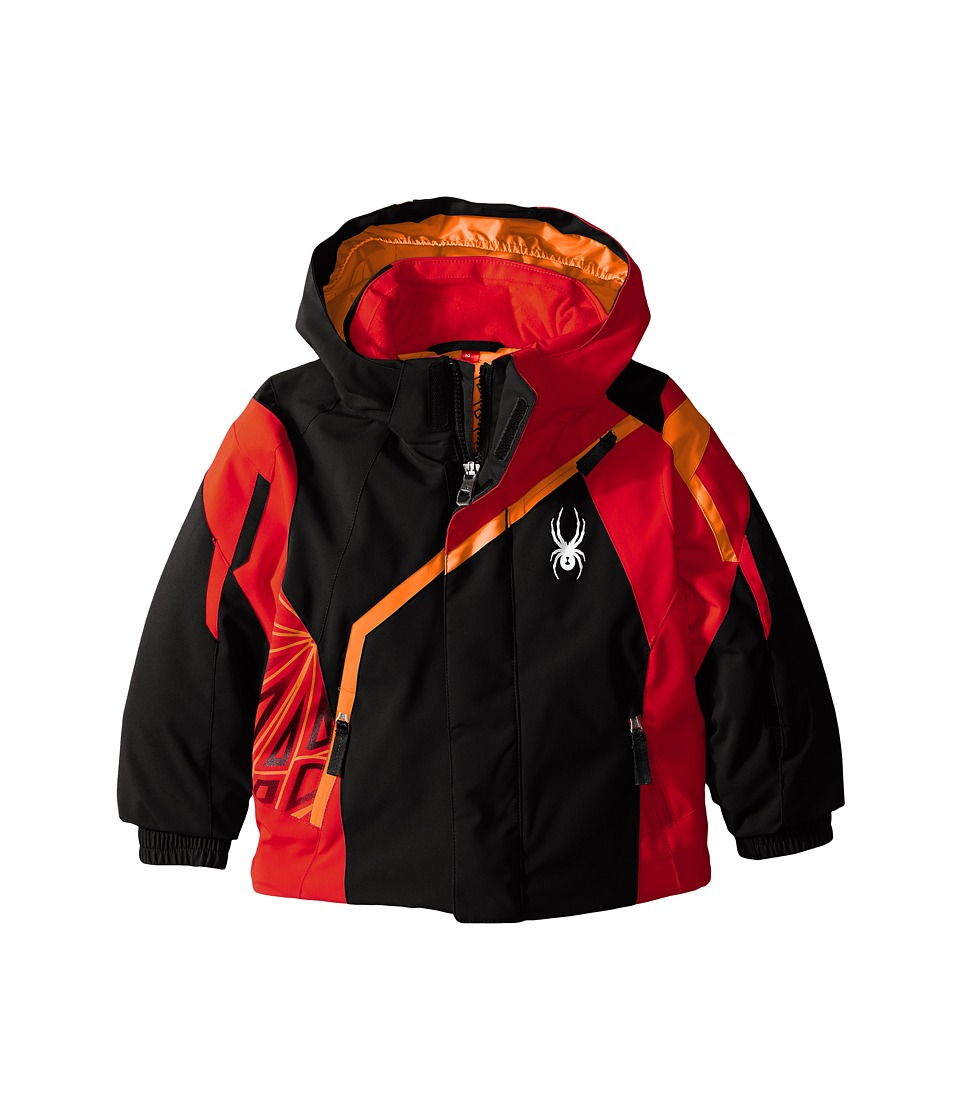 Spyder Kids - Mini Challenger Jacket (Toddler/Little Kids) (Black/Red/Bryte Orange) Boy's Coat
