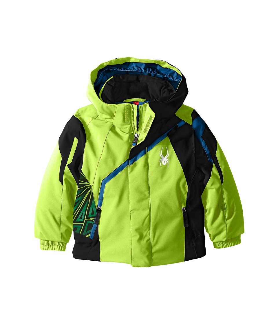 Spyder Kids - Mini Challenger Jacket (Toddler/Little Kids) (Bryte Orange/Black/Concept Blue) Boy's Coat