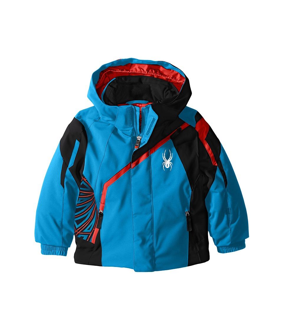 Spyder Kids - Mini Challenger Jacket (Toddler/Little Kids) (Electric Blue/Black/Rage) Boy's Coat