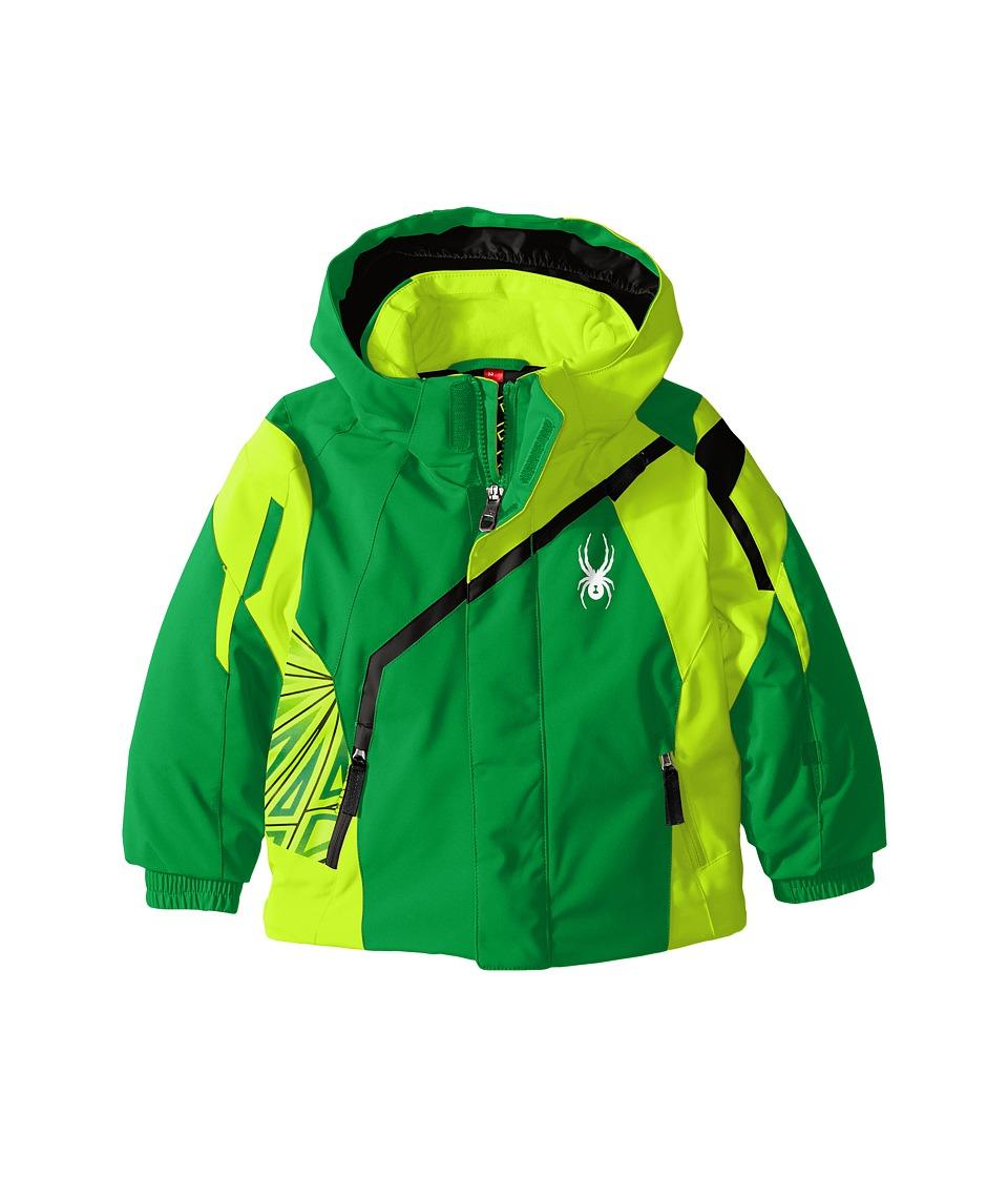 Spyder Kids - Mini Challenger Jacket (Toddler/Little Kids) (Jungle/Bryte Green/Black) Boy's Coat