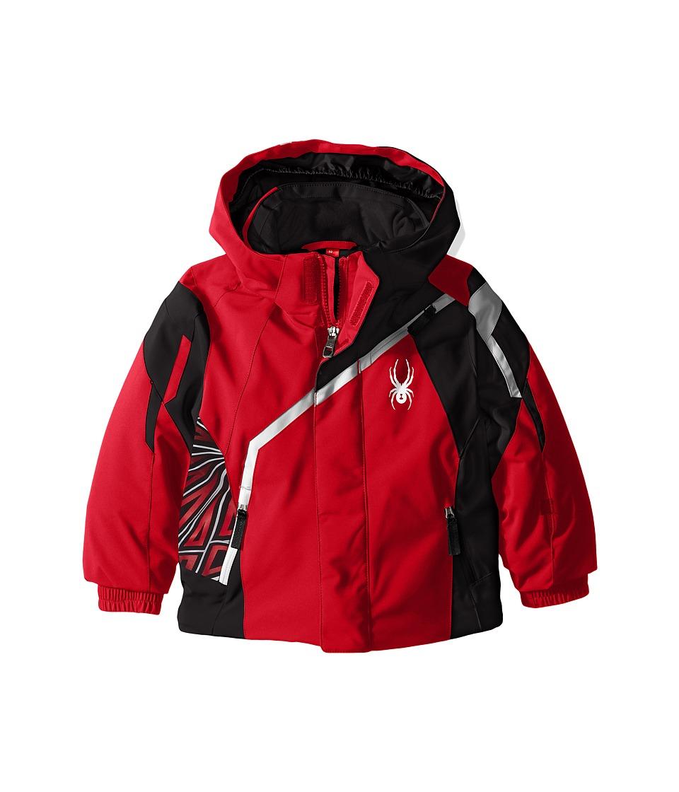 Spyder Kids - Mini Challenger Jacket (Toddler/Little Kids) (Red/Black/Cirrus) Boy's Coat
