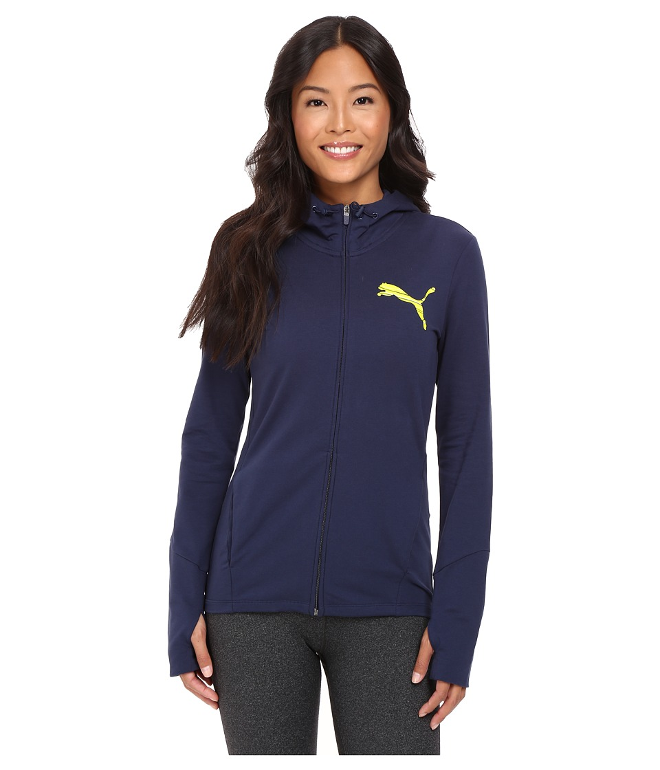 PUMA - Elevated Full Zip Hoodie (Peacoat) Women's Sweatshirt
