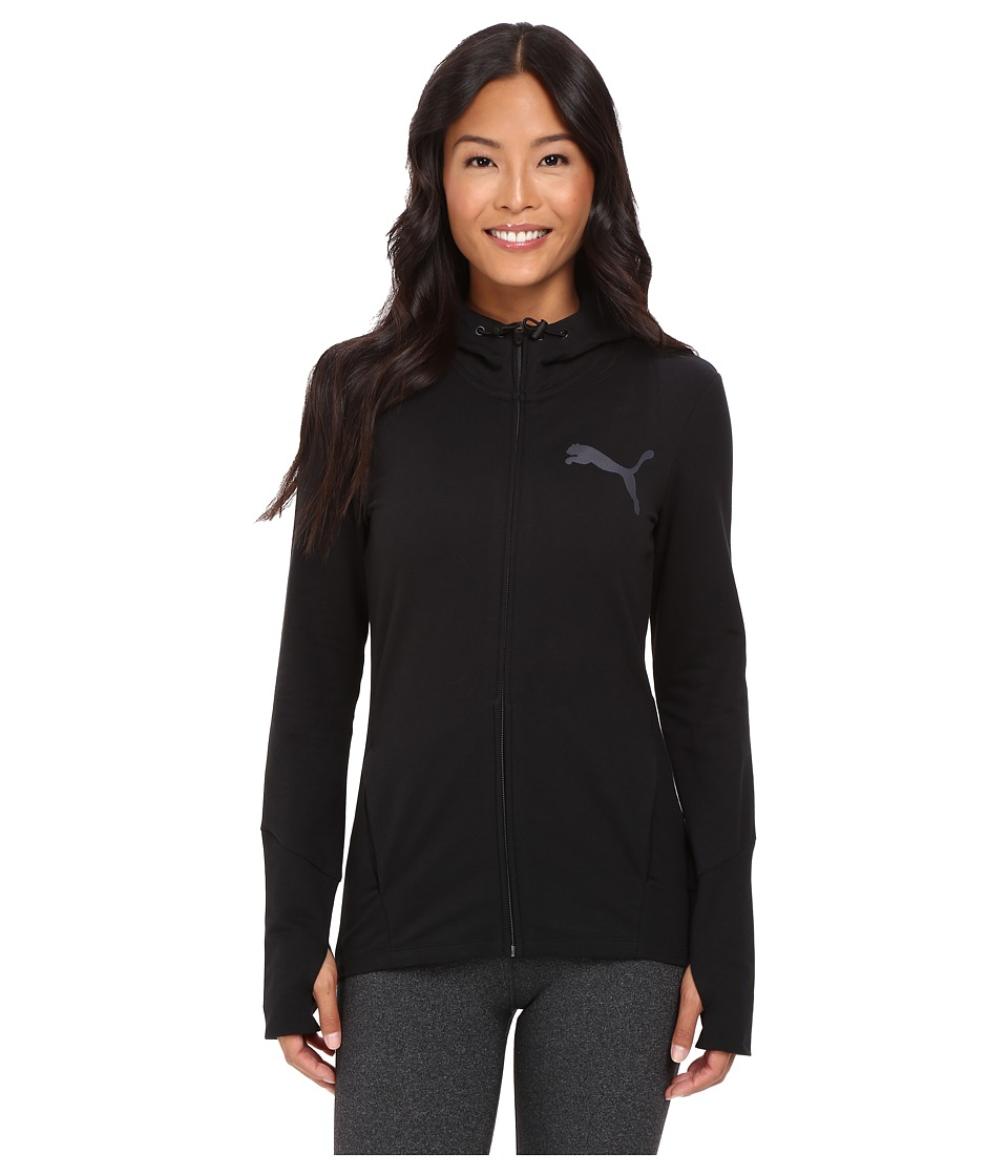 PUMA - Elevated Full Zip Hoodie (Cotton Black) Women's Sweatshirt