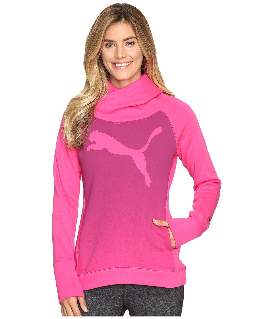 PUMA - Cat Fleece Hoodie (Fuchsia Purple) Women's Sweatshirt