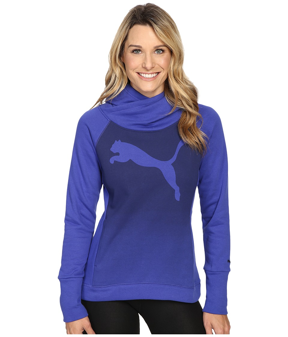 PUMA - Cat Fleece Hoodie (Royal Blue) Women's Sweatshirt