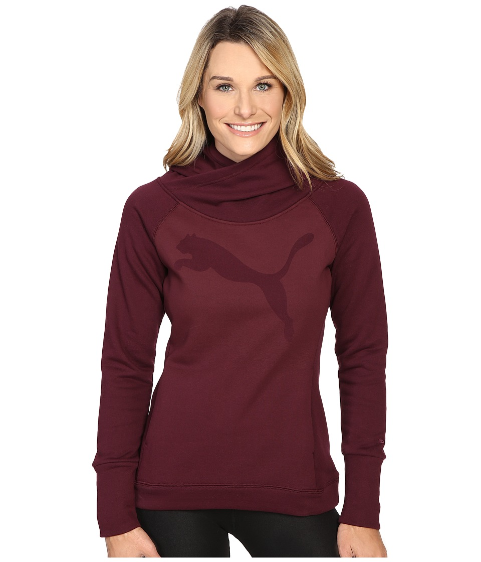 PUMA - Cat Fleece Hoodie (Winetasting) Women's Sweatshirt