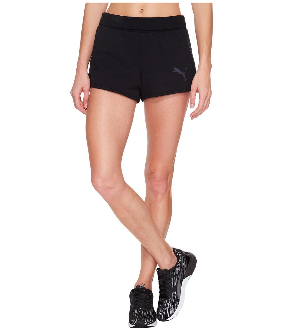 PUMA - Active Ess Shorts (Cotton Black) Women's Shorts