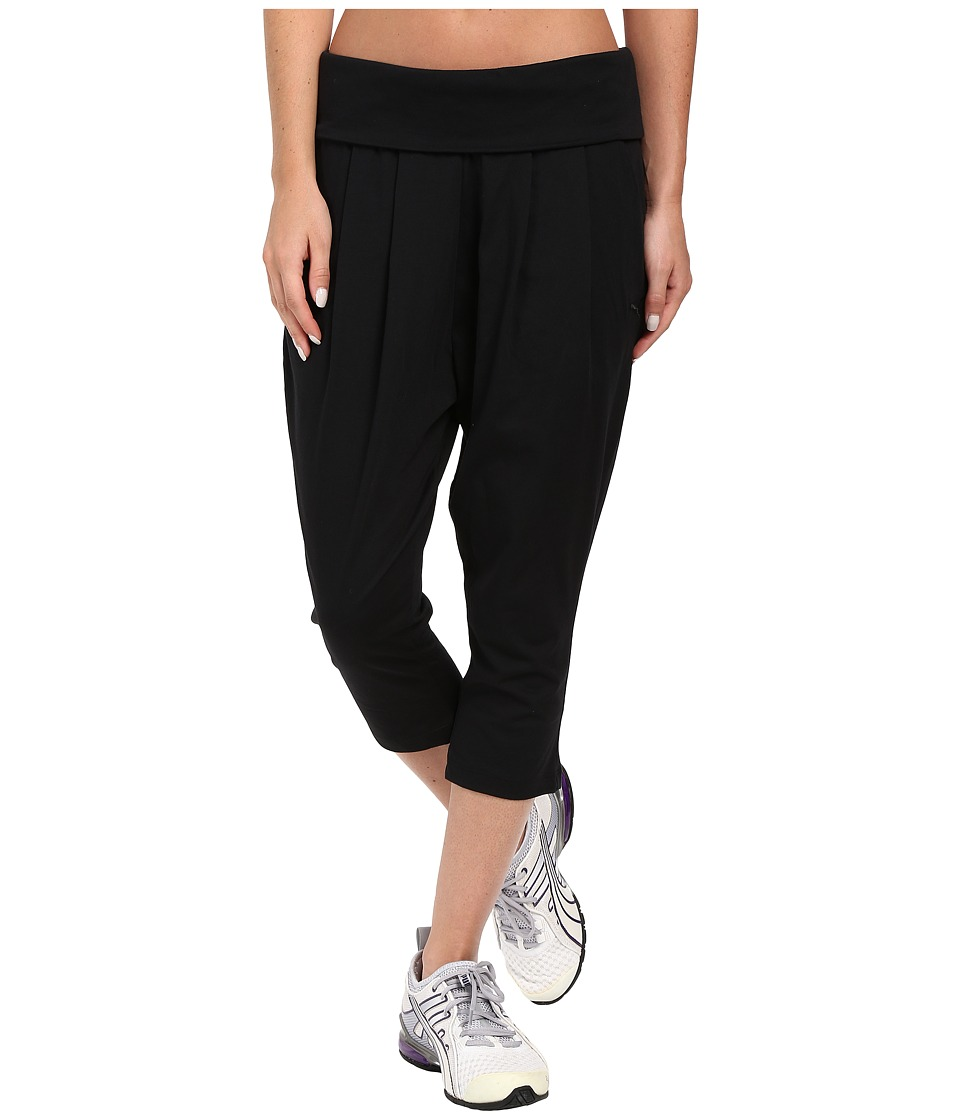 PUMA - Ess Shorter Drapy Pants (Cotton Black) Women's Casual Pants