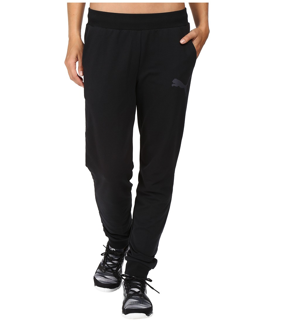 PUMA - Elevated Cat Sweat Pants (Cotton Black) Women's Casual Pants