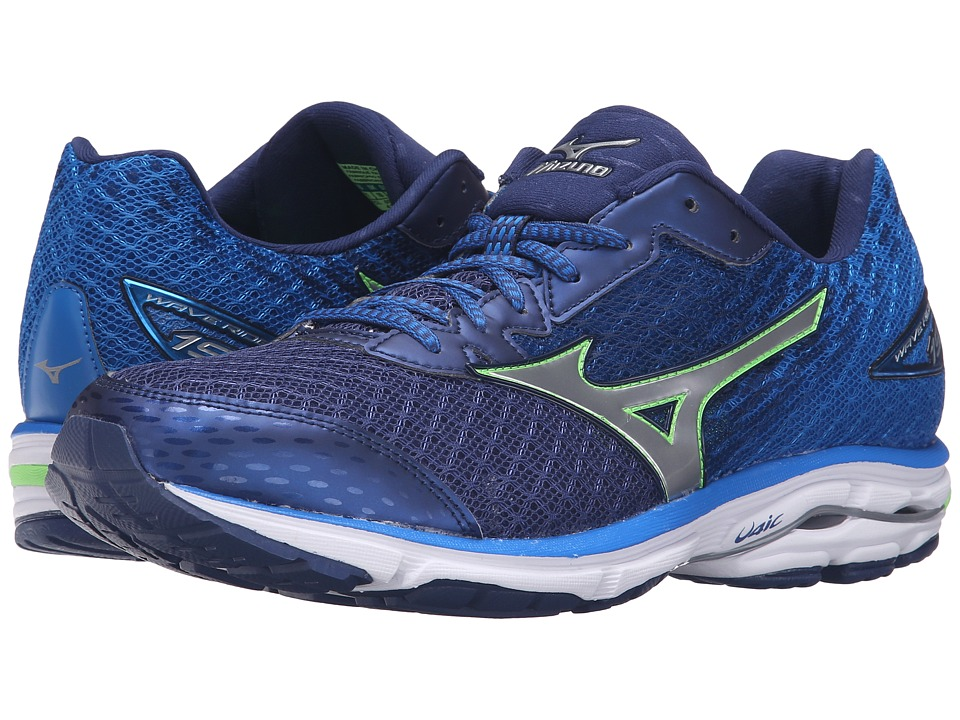 Mizuno - Wave Rider 19 (Twilight Blue/Green Gecko/Silver) Men's Running Shoes