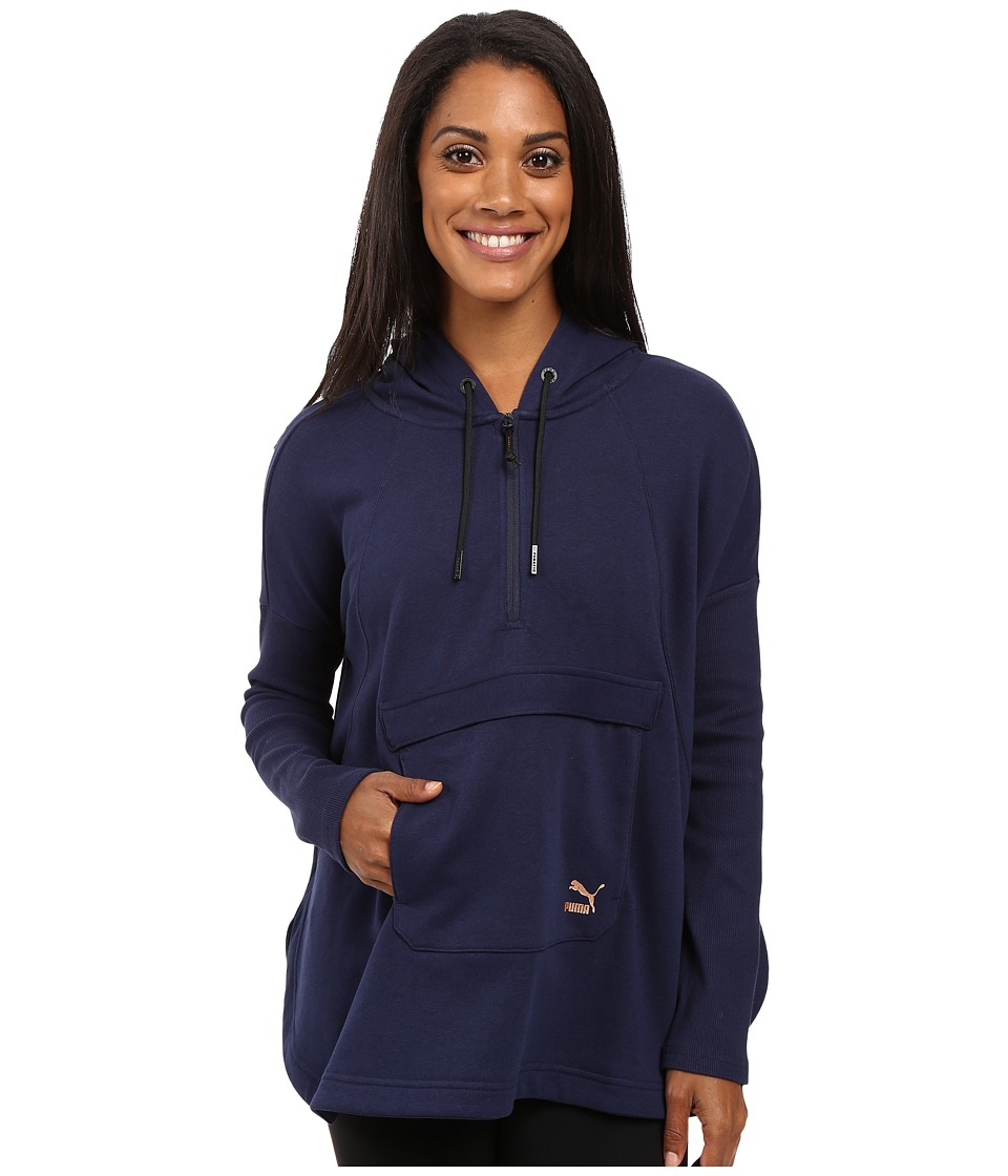 PUMA - EVO Hooded Cape (Peacoat) Women's Coat