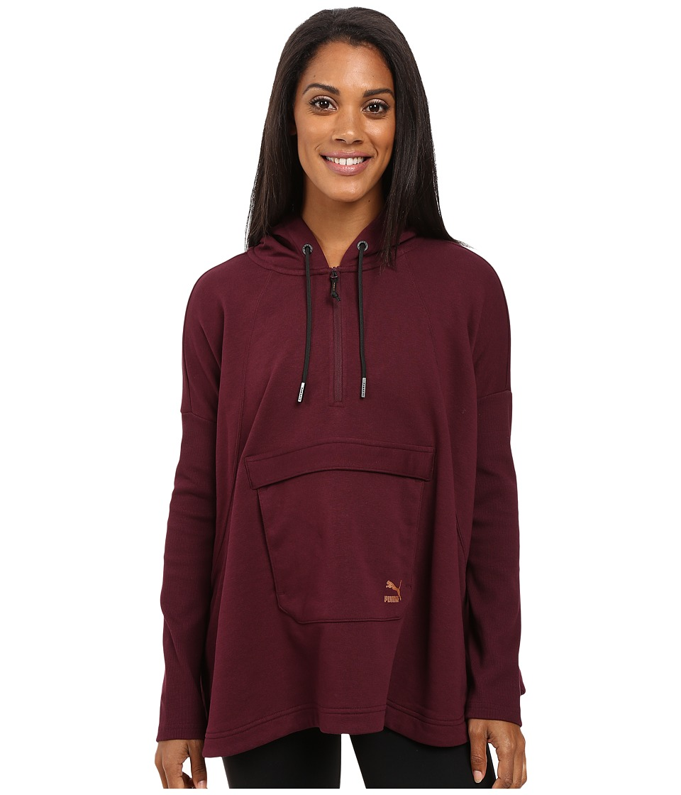 PUMA - EVO Hooded Cape (Winetasting) Women's Coat