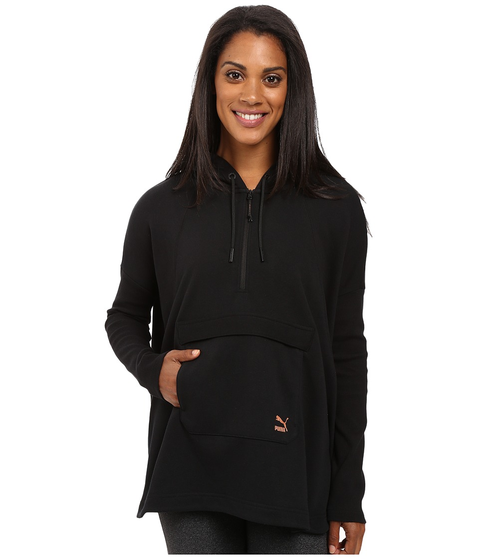 PUMA - EVO Hooded Cape (Cotton Black) Women's Coat