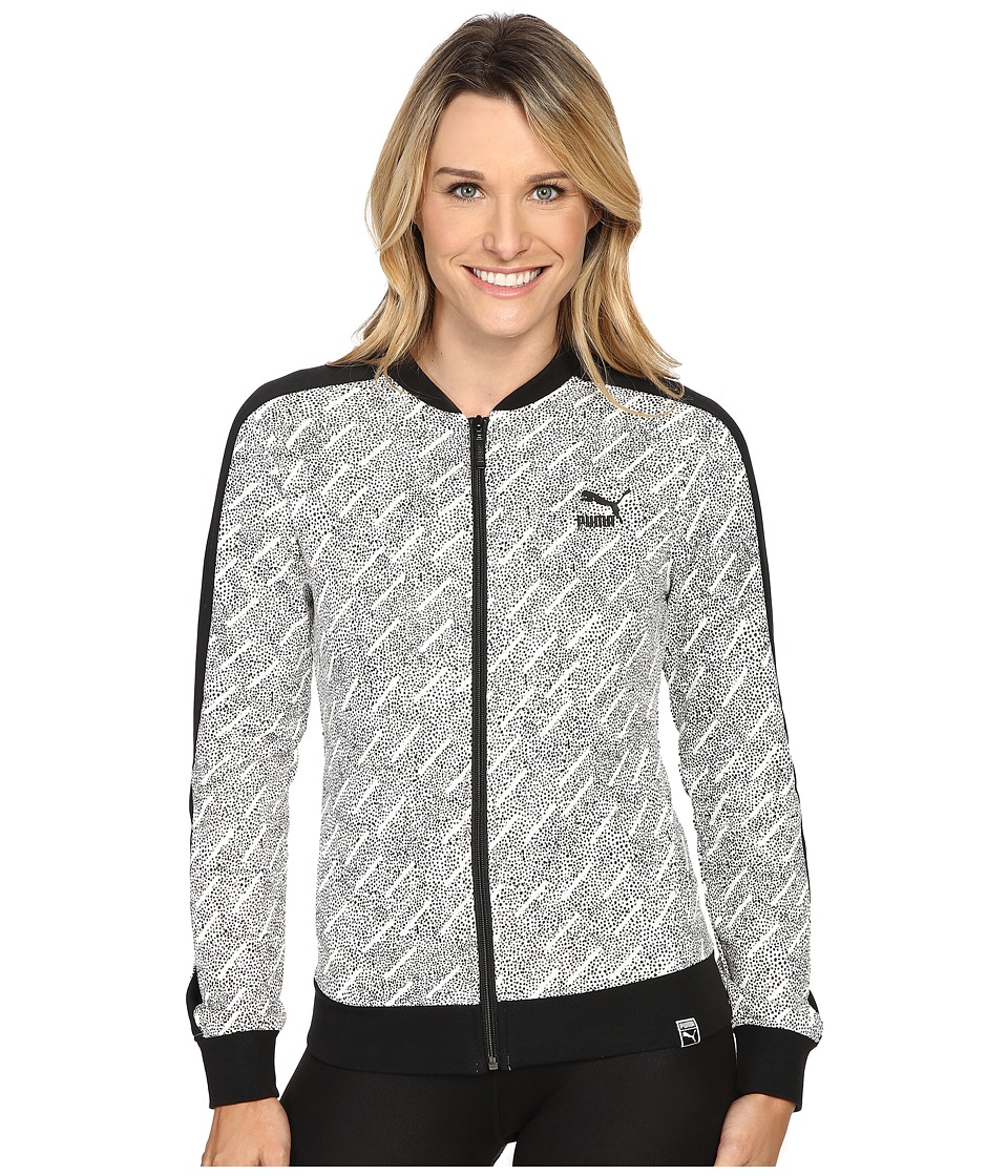PUMA - AOP T7 Track Jacket (PUMA White) Women's Coat