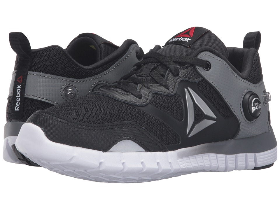 Reebok Kids - ZPump Instinct (Big Kid) (Black/Alloy/Silver Metallic/White) Boys Shoes