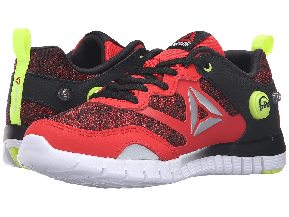 Reebok Kids - ZPump Instinct WW (Big Kid) (Riot Red/Black/Solar Yellow/White/Silver) Boys Shoes