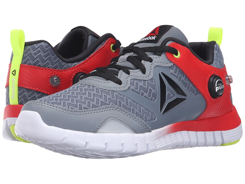 Reebok Kids - ZPump Instinct (Big Kid) (Asteroid Dust/Riot Red/Solar Yellow/White/Black) Boys Shoes