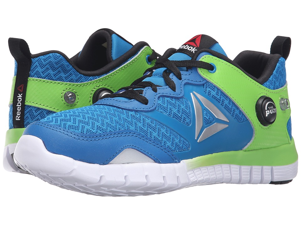 Reebok Kids - ZPump Instinct (Big Kid) (Instinct Blue/Semi Solar Green/Black/White/Silver) Boys Shoes