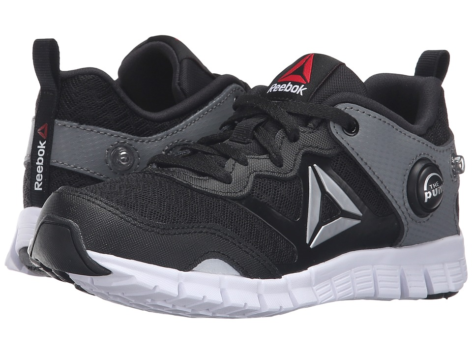 Reebok Kids - ZPump Instinct (Little Kid) (Black/Alloy/Silver Metallic/White) Boys Shoes