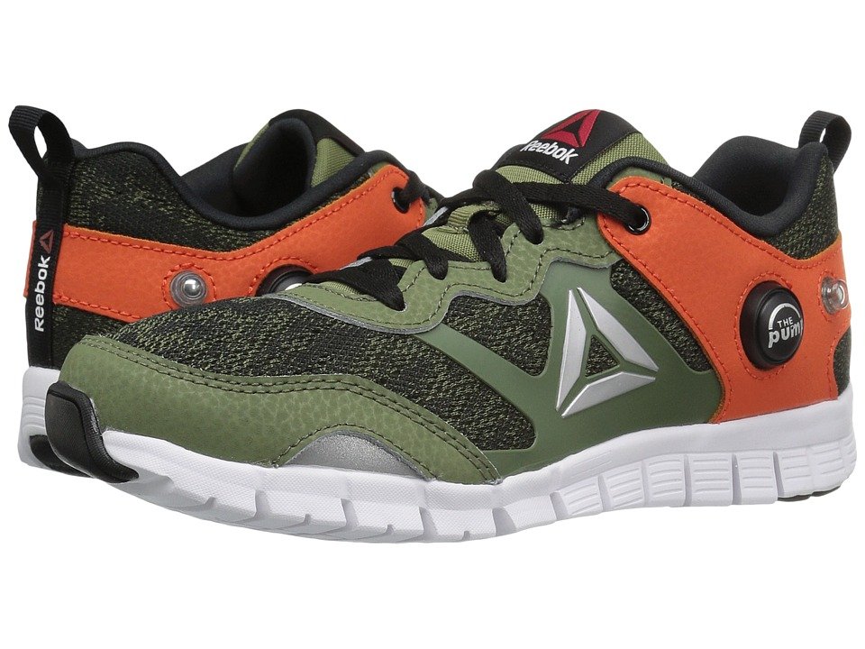 Reebok Kids - ZPump Instinct WW (Little Kid) (Canopy Green/Black/Flux Orange/White/Silver) Boys Shoes