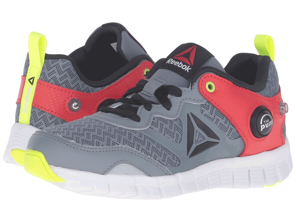 Reebok Kids - ZPump Instinct (Little Kid) (Asteroid Dust/Riot Red/Solar Yellow/White/Black) Boys Shoes